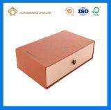 Caixa pequena luxuosa feita sob encomenda do fósforo da gaveta com punho da fita (caixa da gaveta do papel Handmade)