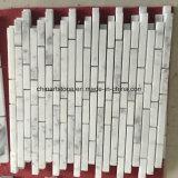 China Bianco mosaico de mármol blanco de Carrara para baldosas de pared