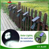庭の芝生太陽ランプLEDの軽い壁は地上スパイクをスポットライトで照らす