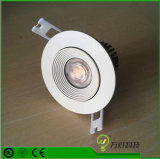 5W regulable Die-Casting Impermeable IP44 LED Iluminación Downlight empotrable de mazorca