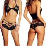 Kostuums van Porno van de Lingerie van de Verleiding van het Ondergoed van de Vrouwen van de Kostuums van het Kant van de Nachtkleding van Halter van de Lingerie van dames de Hete Sexy Sexy Sexy Erotische