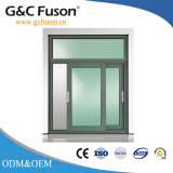 Het Aluminium van het ontwerp/Venster van het Glas van de Sjerp van het Aluminium het Horizontale Glijdende