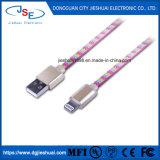 Tela plana de IFM 8 pino do cabo do carregador de raios de cabo de sincronização de dados para iPhone 7/6 S Plus X3