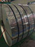 Feuille de la voie d'aluminium fini miroir avec motif de la boussole