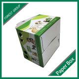 Cadre de empaquetage d'animal familier de carton ondulé avec le traitement