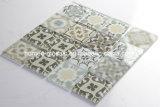 Mattonelle di mosaico di vetro lustrate della parete di Backsplash della cucina di stampa del getto di inchiostro