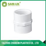 Una buena calidad Sch40 la norma ASTM D2466 Acoplamientos de tubos de PVC blanco Una01