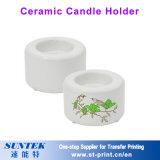 Espacio en blanco al por mayor de la sublimación Wedding el pequeño rectángulo de cerámica de la vela del sostenedor de vela