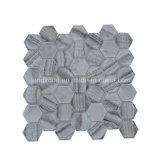 六角形のパタングラスの組合せの大理石のモザイク・タイル