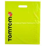 El diseño de encargo de la insignia de Dongguan imprimió la bolsa de plástico cortada con tintas LDPE biodegradable