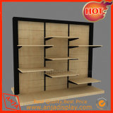 Estante de pared de madera Tienda de Ropa/Accesorios/Estante Panel acrílico accesorio estantería
