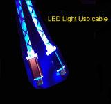 Cable de datos ligero del USB del LED para el iPhone androide de Samsung