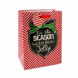 Sacs en papier enduits de cadeau d'art rouge de réseau de vacances de mode