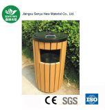 Caixote de lixo ao ar livre personalizado de WPC