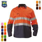 Camicia riflettente del lavoro del trivello del cotone di tono del Workwear 2 di Ciao-Forza