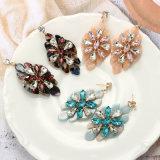 Estilo de Verão moda Flor de Diamante de cristal brincos de acrílico