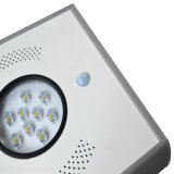A luz de LED solar de 8 W para iluminação de rua de Jardim