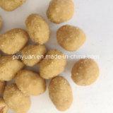 Alimento enlatado/petisco revestido do amendoim sabor dos pimentões