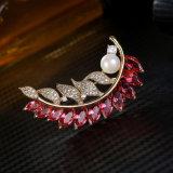 De Juwelen van de Manier van de Broche van het blad voor Zilveren Juwelen van Sterlig van het Gebruik van de Decoratie van Vrouwen de Dagelijkse