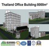 Oficina prefabricada de la estructura de acero y taller de acero de la construcción de viviendas en Tailandia