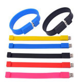 Movimentação do flash do USB do bracelete dos presentes da promoção do PVC do OEM com logotipo personalizado