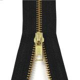 Zipper de bronze do vestuário do terno da alta qualidade