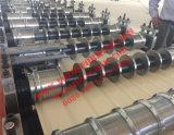 Цвет PPGI стальные панели стены роликогибочная машина для клиента