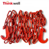 A cor vermelha G80 acorrente de retenção de ligas de aço com gancho C