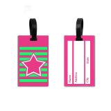 Venta caliente etiquetas de equipaje Bolsa personalizada Etiqueta de Equipaje en blanco Accesorios