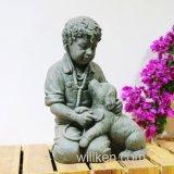 Het openlucht Standbeeld van het Kind van het Standbeeld van de Decoratie van de Tuin voor Verkoop