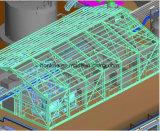 Hot-DIP galvanisiertes StahlPipe/Gi quadratisches Stahlrohr-/Gefäß-Zelle-Gebäude