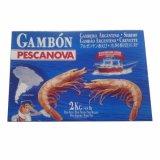 Caixa de embalagem encerada profunda do papel do camarão