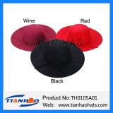 Чувствовали, что шлем широкого Brim неповоротливый с войлоком обхватывали шерсти женщин способа