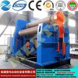 W12 hydraulique à quatre de la plaque de tôle en acier de roulement à rouleaux de la machine (plieuse)