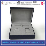 Doos van de Gift van de Juwelen van de textuur de KorrelPu voor Juwelen/Ring/Halsband/Armband/het Pakket van Oorringen