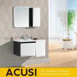 Vanidad de marfil del cuarto de baño del colgante de pared del color de la madera contrachapada moderna combinada (ACS1-L24)