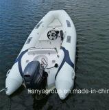 Liya 3,8 m 12,5 pés casco de fibra de vidro costela inflável Botes com marcação CE