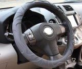 Mover as tampas de roda pretas de couro da direção do carro do PVC 38mm