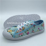 Hottest Lady toile chaussures chaussures occasionnel avec0315-5 Shoelace (HP)