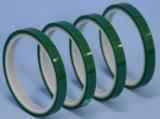 Nastro adesivo del silicone verde a temperatura elevata del poliestere dell'animale domestico dell'isolamento termico