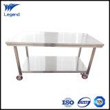 96 polegadas mesas de trabalho de dobragem de aço inoxidável com abertura traseira