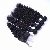 最上質の100%の人間の毛髪は水波のブラジル人の毛を束ねる