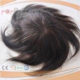 암갈색 사람의 모발 가득 차있는 Handtied Hairpiece (PPG-l-0554)