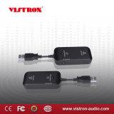 Black fiche 3.5 mm mini émetteur et récepteur pour une meilleure application audio sans fil