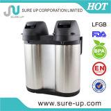 ヨーロッパ様式の倍の壁のステンレス鋼の倍ボディコーヒーポンプ鍋(ASUF019DS)