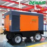 compressor de ar móvel do parafuso do motor Diesel de 180cfm Cummins para o Sandblaster