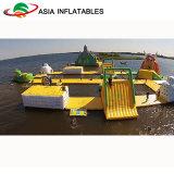 Sosta di galleggiamento gonfiabile dell'acqua, sosta gonfiabile di corsa ad ostacoli dell'acqua