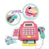Brinquedo plástico do registo de dinheiro do supermercado de imitação para miúdos