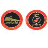 Venda por grosso de tamanhos personalizados populares de duas faces moedas vermelho