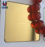 Luxuxgoldchampagne-Bronzefarben-Edelstahl-Blatt-Wand für Dekoration